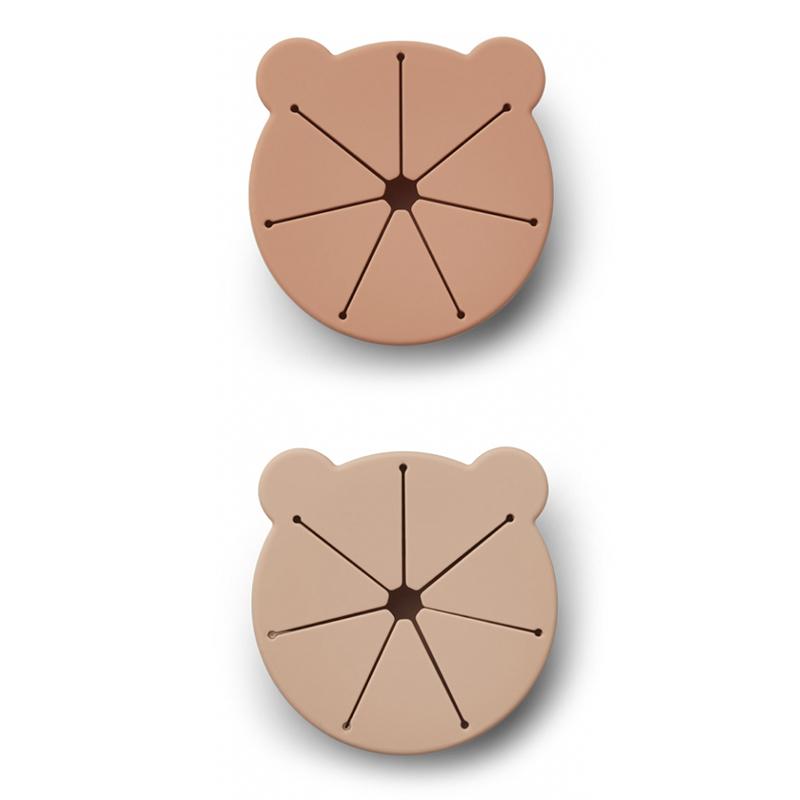 Immagine di Liewood® Set di 2 ciotole per snack in silicone Kelly Mr Bear Rose Mix
