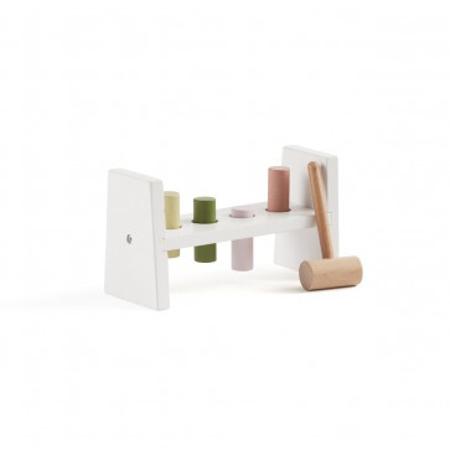 Immagine di Kids Concept® Giocattolo di legno con un martelletto Edvin White