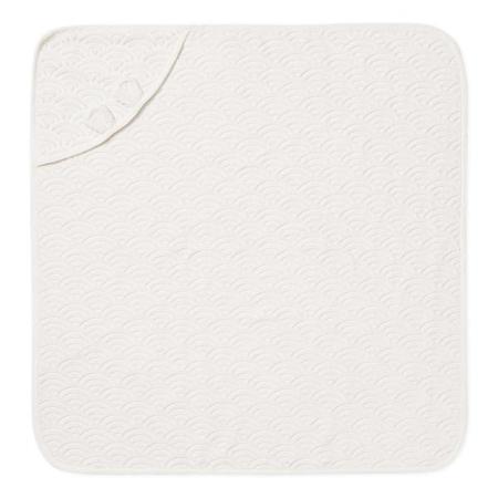 CamCam® Asciugamano con cappuccio e orecchie GOTS Off White 80x80