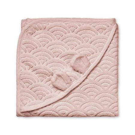 Immagine di CamCam® Asciugamano con cappuccio e orecchie GOTS Dusty Rose 80x80