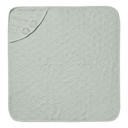 CamCam® Asciugamano con cappuccio e orecchie GOTS Dusty Green 80x80
