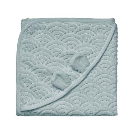Immagine di CamCam® Asciugamano con cappuccio e orecchie GOTS Petroleum 80x80
