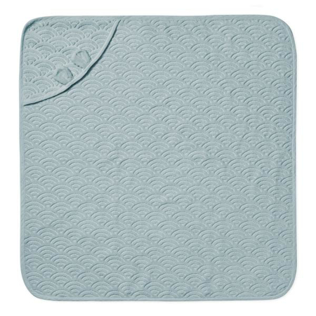 CamCam® Asciugamano con cappuccio e orecchie GOTS Petroleum 80x80