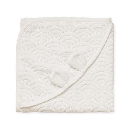 Immagine di CamCam® Asciugamano con cappuccio e orecchie GOTS Off White 80x80