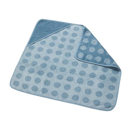 Immagine di Leander® Asciugamano in cotone con cappuccio Dusty Blue 80x80