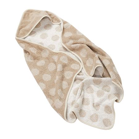 Leander® Asciugamano in cotone con cappuccio Cappuccino 80x80