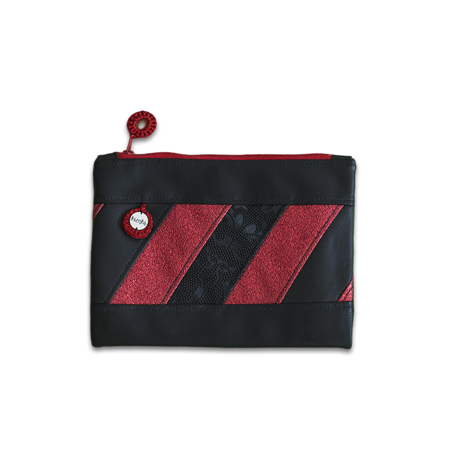 Immagine di Ksenka® Beauty case fatto a mano Black & Red