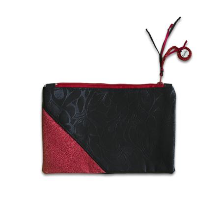 Immagine di Ksenka®  Beauty case fatto a mano Rustic Black & Red