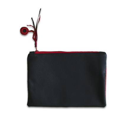 Ksenka®  Beauty case fatto a mano Rustic Black & Red