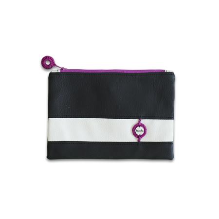 Immagine di Ksenka® Beauty case fatto a mano Black & White Pink