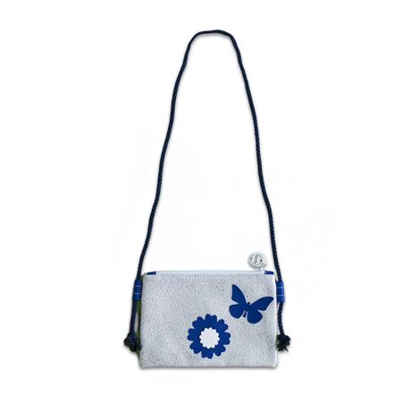 Ksenka® Borsa perbambini fatta a mano Flowers Silver Blue