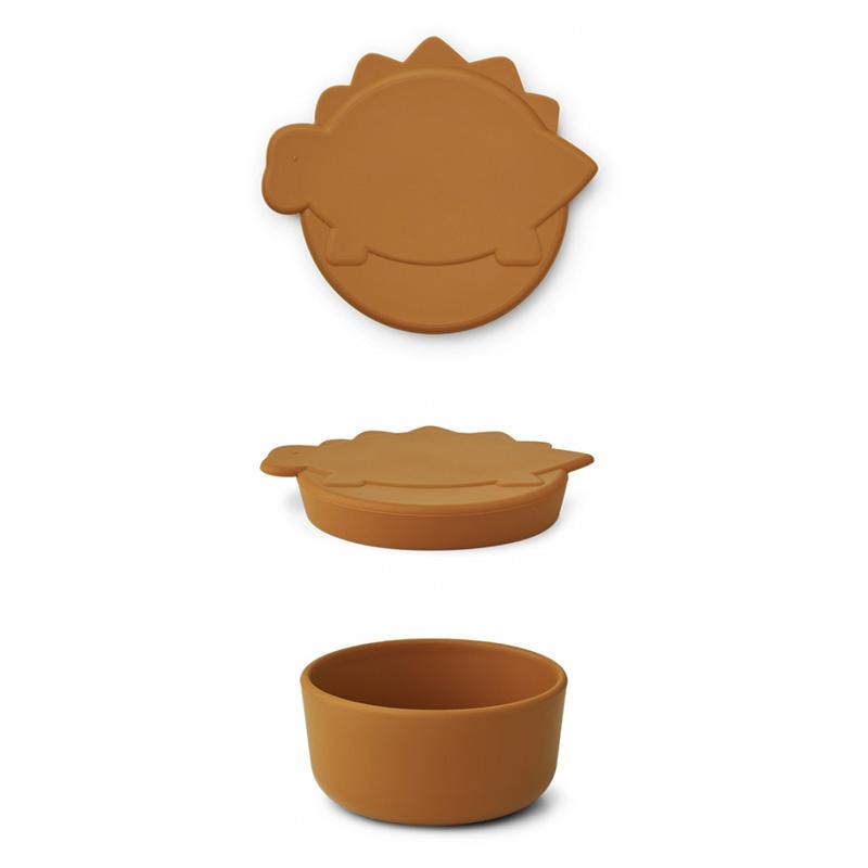 Immagine di Liewood® Contenitore per snack in silicone Cornelius Dino Mustard 350ml