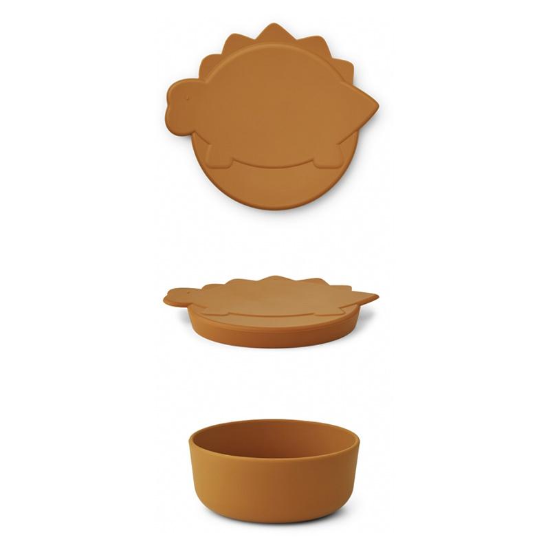 Immagine di Liewood® Contenitore per snack in silicone Charlot Mustard