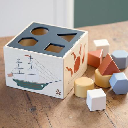 Sebra®  Cubo in legno per selezione forme Seeven Seas