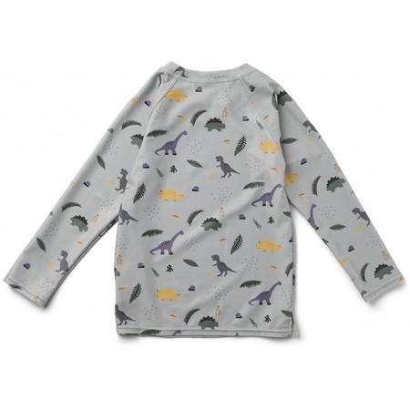 Liewood® Majica s UV zaštitom Noah Dino Dove Blue Mix