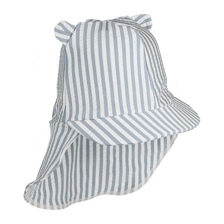 Immagine di Liewood® Cappellino con protezione UV Senia Stripe Sea Blue/White