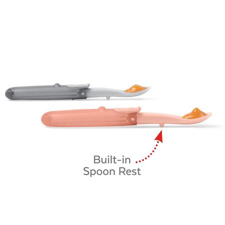 Skip Hop® Set di cucchiai pieghevoli Grey/Soft Coral