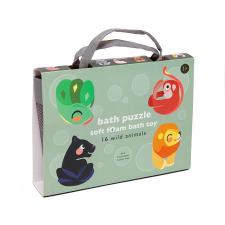 Petit Monkey® Puzzle in schiuma per il bagno Wild Animals