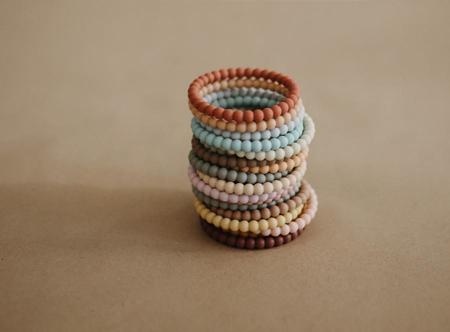 Immagine di Mushie® Anello da mordere  Pearl Linen/Peony/Pale Pink 3 pezzi