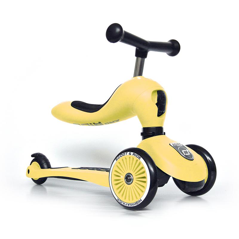 Immagine di Scoot & Ride® Bici senza pedali e monopattino 2 in 1 Highwaykick 1 Lemon