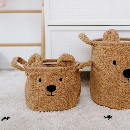 Childhome® Contenitore per giocattoli Teddy 25x20x20 cm