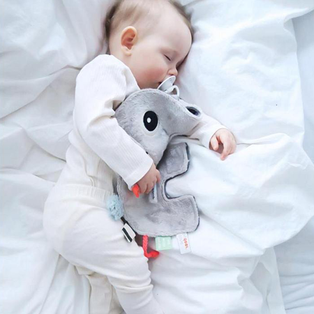 Done by Deer® Doudou e portaciuccio Elphee Grey