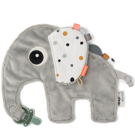 Immagine di Done by Deer® Doudou e portaciuccio Elphee Grey