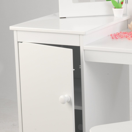 Immagine di KidKraft® Tavolo da trucco e sgabello Deluxe Vanity