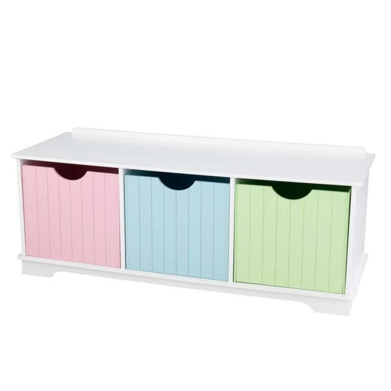 Immagine di KidKraft®  Panca in legno con cassetti Pastel