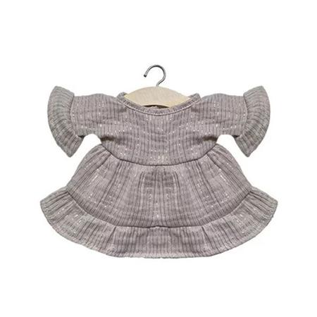 Immagine di Minikane® Vestito per le bambole Lucia Lurex Beige 34cm