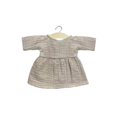 Immagine di Minikane® Vestito per le bambole Faustine Lurex Beige 32cm