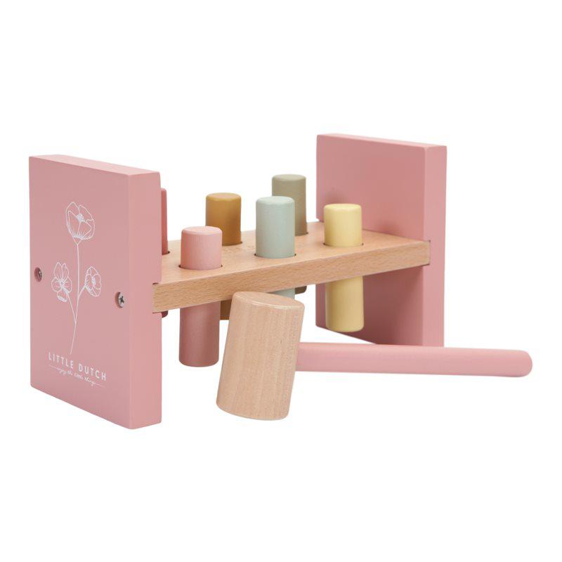 Immagine di Little Dutch® Giocattolo in legno con un martelletto Wild Flowers