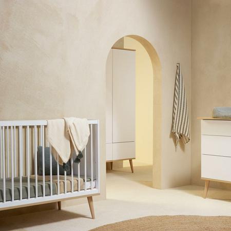Immagine di Quax® Lettino Flow 120x60 White & Oak