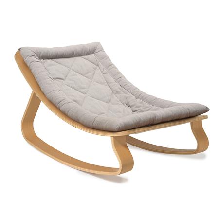 Charlie Crane® Sdraietta e sedia a dondolo LEVO Beech Sweet Grey