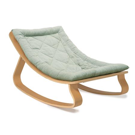Charlie Crane® Sdraietta e sedia a dondolo LEVO Beech Aruba Blue
