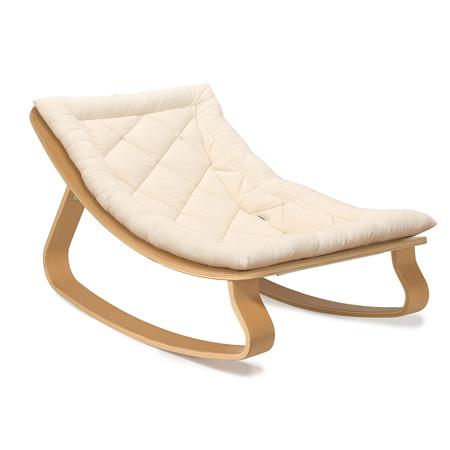 Charlie Crane® Sdraietta e sedia a dondolo LEVO Beech Organic Cotton