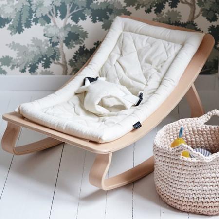 Immagine di Charlie Crane® Sdraietta e sedia a dondolo LEVO Walnut Aruba Blue