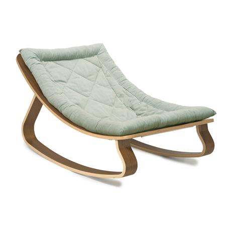 Charlie Crane® Sdraietta e sedia a dondolo LEVO Walnut Aruba Blue