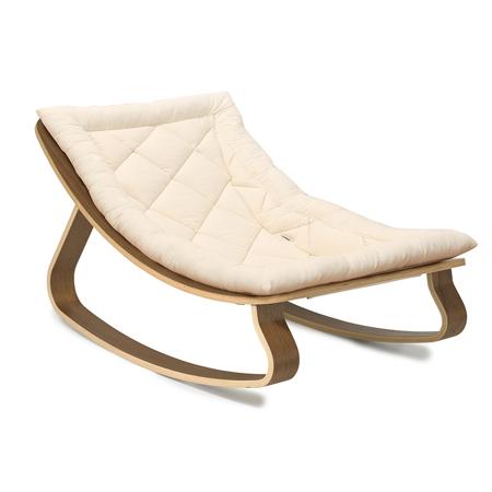 Charlie Crane® Sdraietta e sedia a dondolo LEVO Walnut Organic White