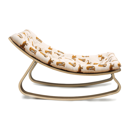 Immagine di Charlie Crane® Sdraietta e sedia a dondolo LEVO Walnut Jaguar