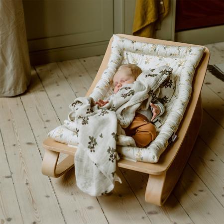 Immagine di Charlie Crane® Sdraietta e sedia a dondolo LEVO Walnut Hibiscus