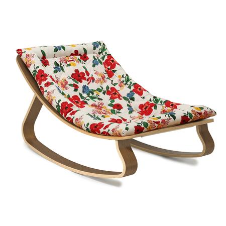 Charlie Crane® Sdraietta e sedia a dondolo LEVO Walnut Hibiscus
