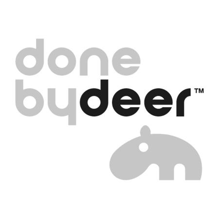 Immagine di Done by Deer® Borraccia con cannuccia Sea friends Mustard/Grey