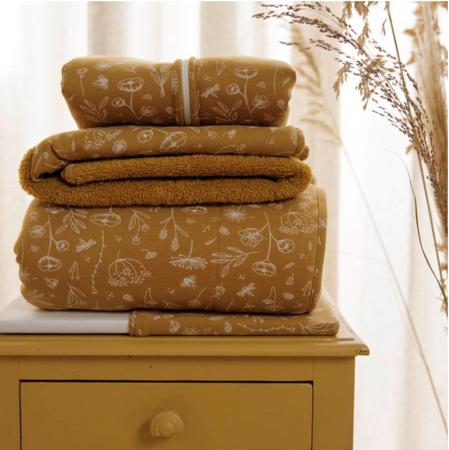 Immagine di Little Dutch® Asciugamano con cappuccio  Wild Flowers Ochre