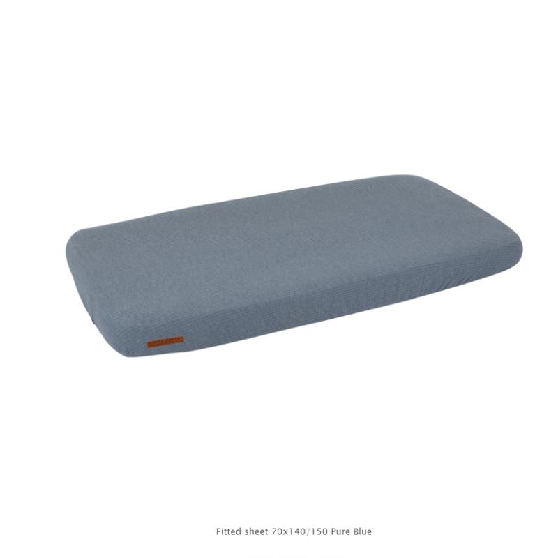 Immagine di Little Dutch®  Lenzuola per il lettino Pure Blue 60x120