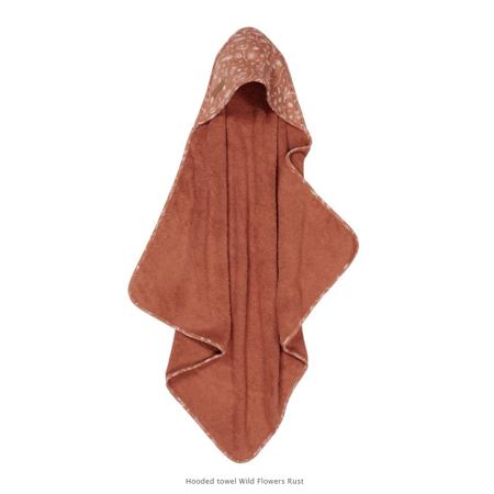 Immagine di Little Dutch® Asciugamano con cappuccio  Wild Flowers Rust