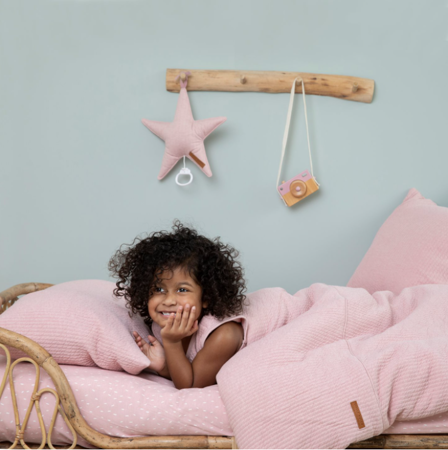 Little Dutch® Lenzuola per il lettino Pure Pink  70 x 140/150