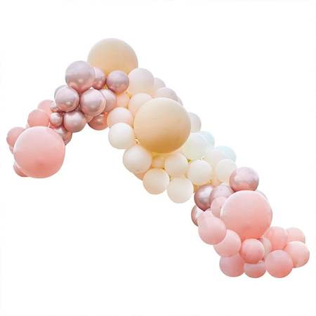 Ginger Ray® Arco di palloncini Luxe Peach, Nude & Rose Gold