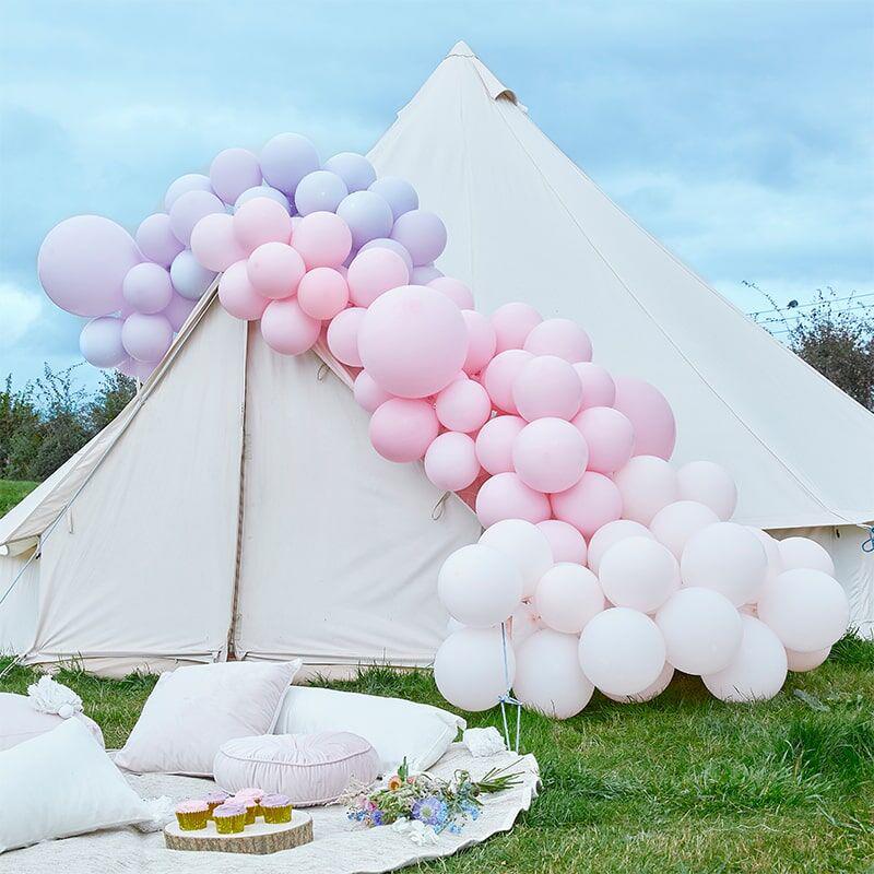 Immagine di Ginger Ray® Arco di palloncini Luxe Pastel Pink & Purple