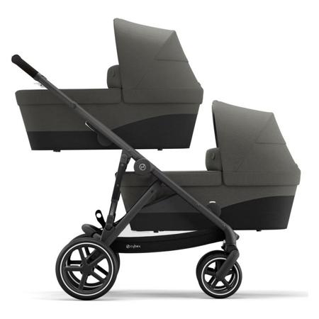 Cybex® Passeggino per gemelli Gazelle S BLK (2x passeggino e 2x navicella) Soho Grey